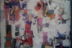 La vie en rose, acrylic 80x80, 2014
