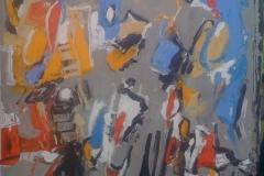 Ljetni dan, akrilik, Summer Day, acrylic, 50x50, 2014