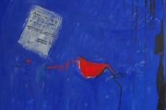 Old Love Letter, acrylic, Staro ljubavno pismo, acrylic, 100x100, 2014