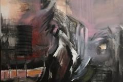 Plesač olovnih nogu, akrilik, Leaden-Legged Dancer, acrylic, 60x60, 2014