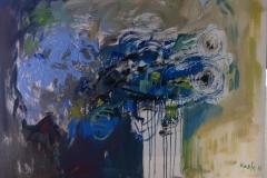 Plavo cvijeće, 60x80, akrilik, 2016