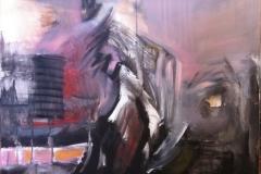 plesač olovnih nogu, akrilik, 60x60, 2016.